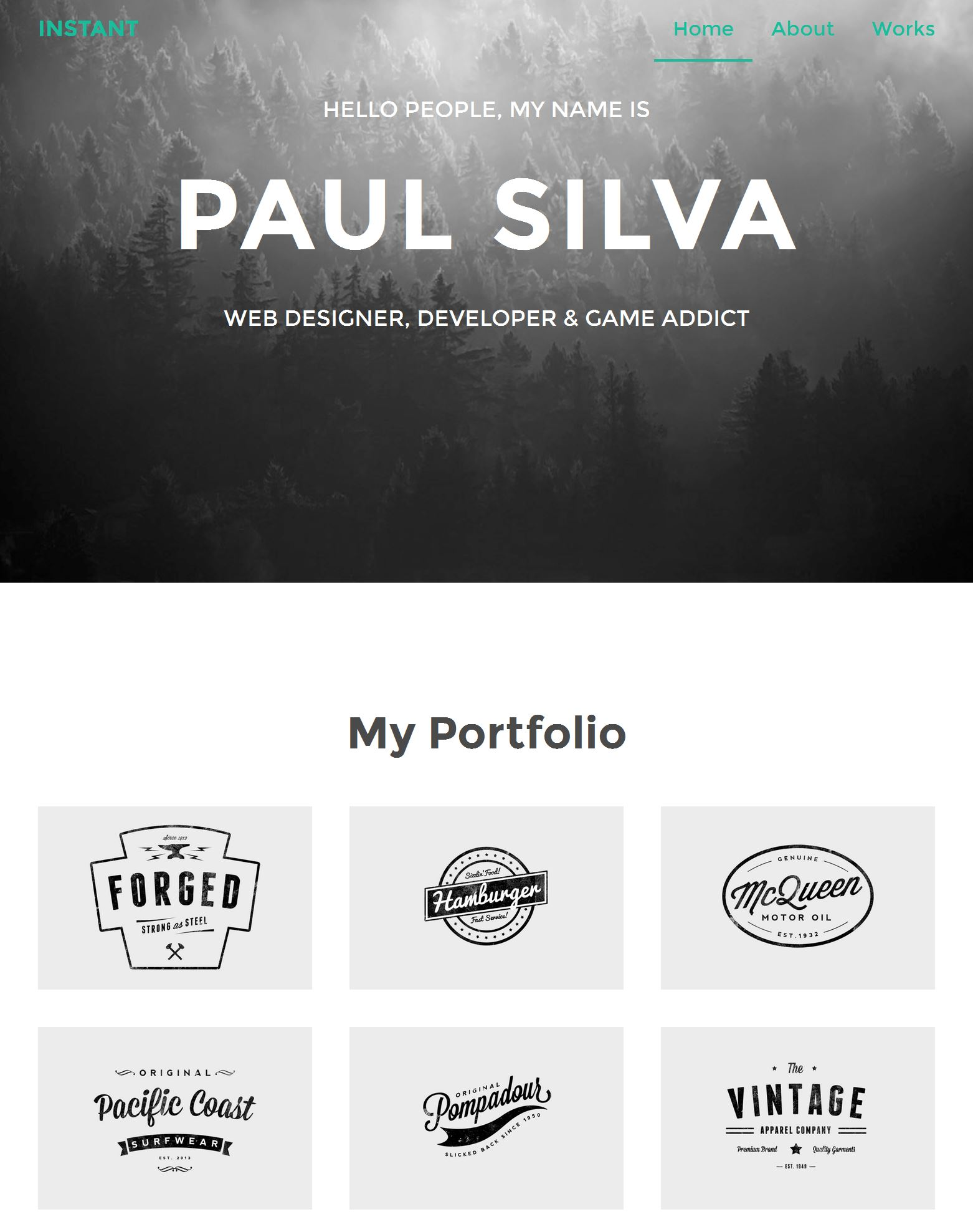 Bootstrap Parallax Template