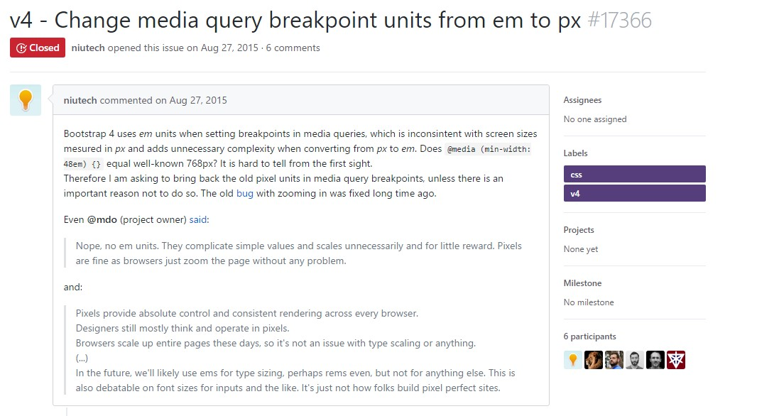 Modify media query breakpoint units from <code>&lt;/div&gt;em</code> to <code>px</code>