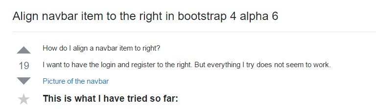 Line up navbar  thing to the right  within Bootstrap 4 alpha 6