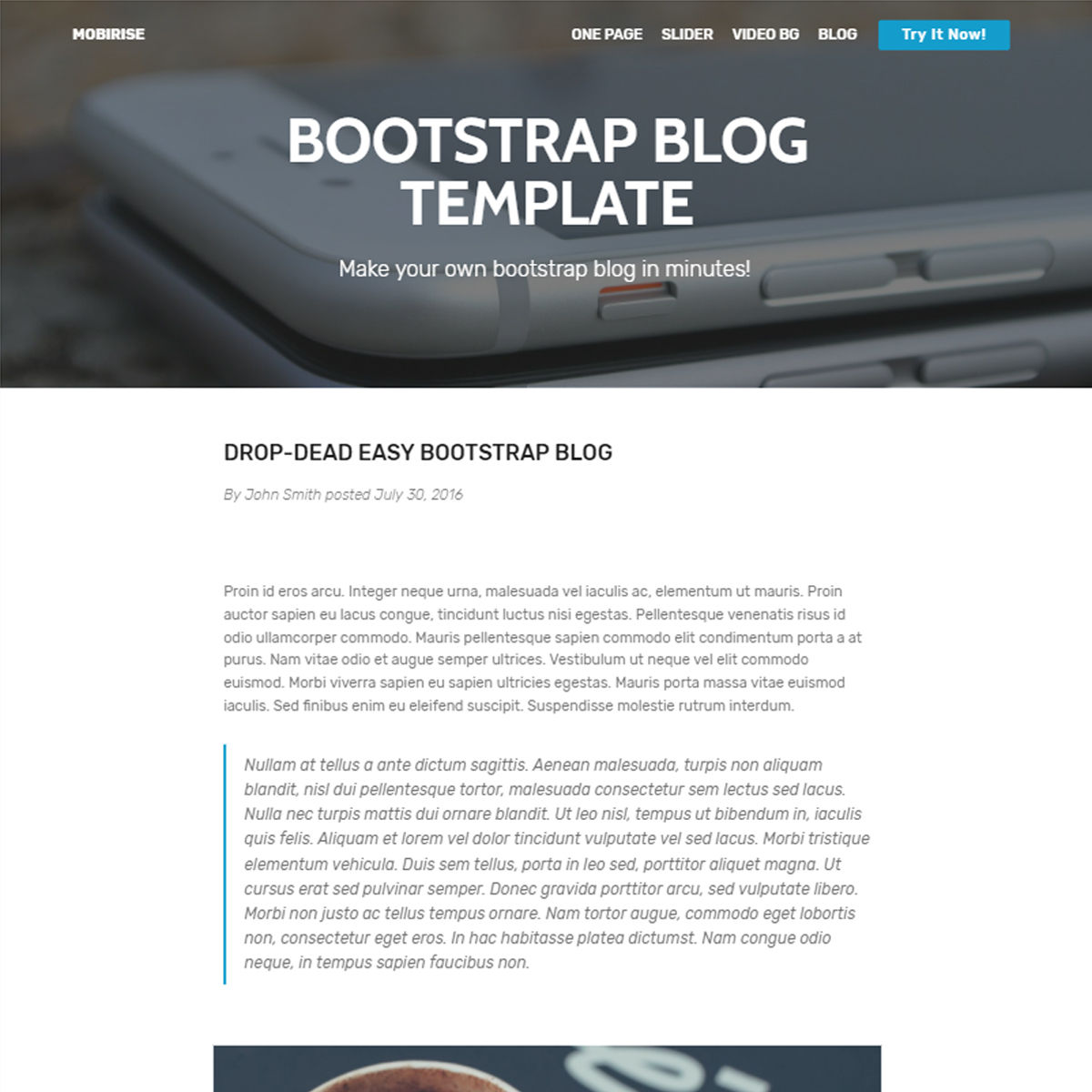 Free Download Bootstrap Blog Themes
