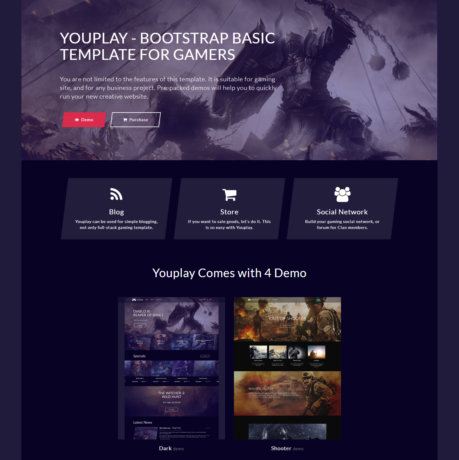 HTML Bootstrap YouPlay Templates