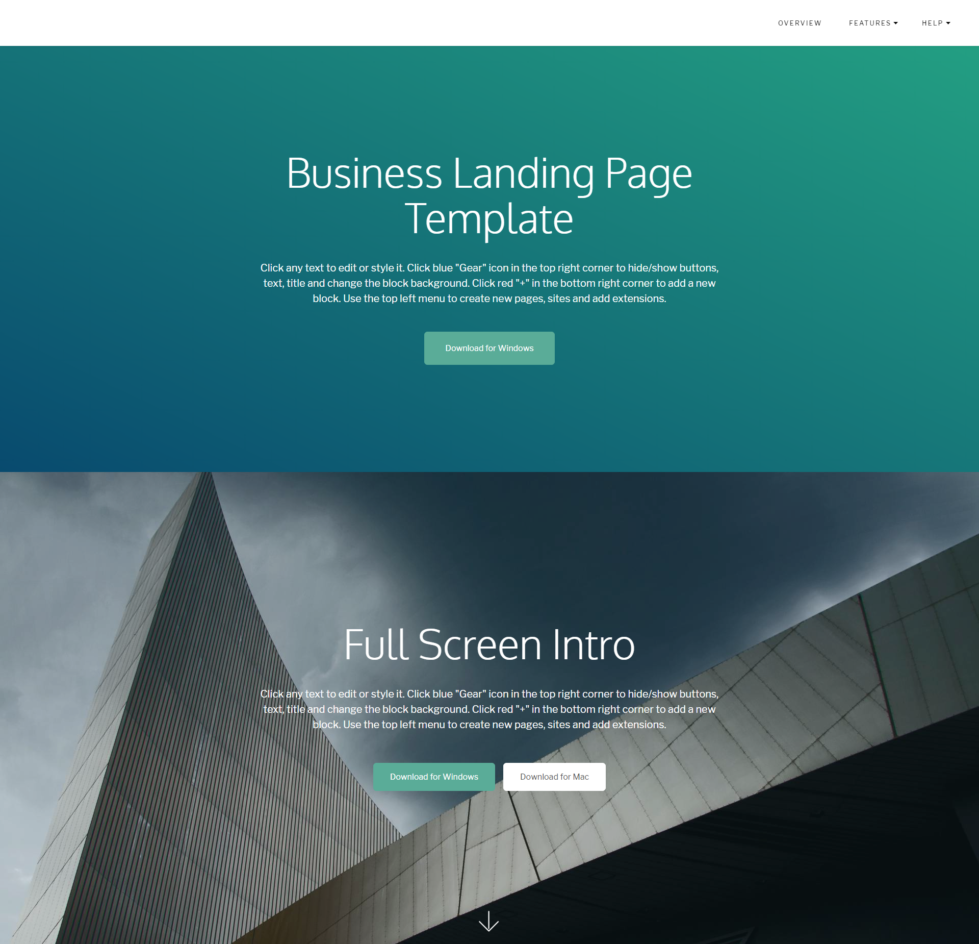 Free Download Bootstrap Business Landing Page Themes