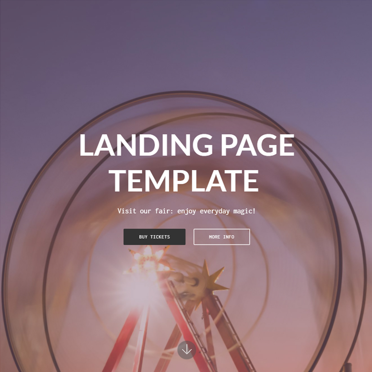 CSS3 Bootstrap Landing Page Templates