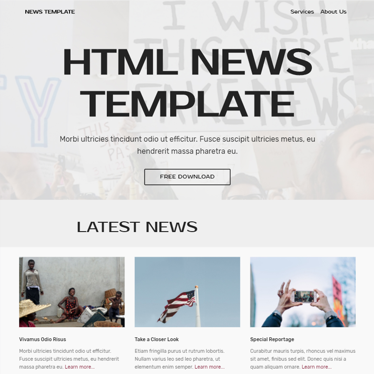 Free Download Bootstrap News Templates