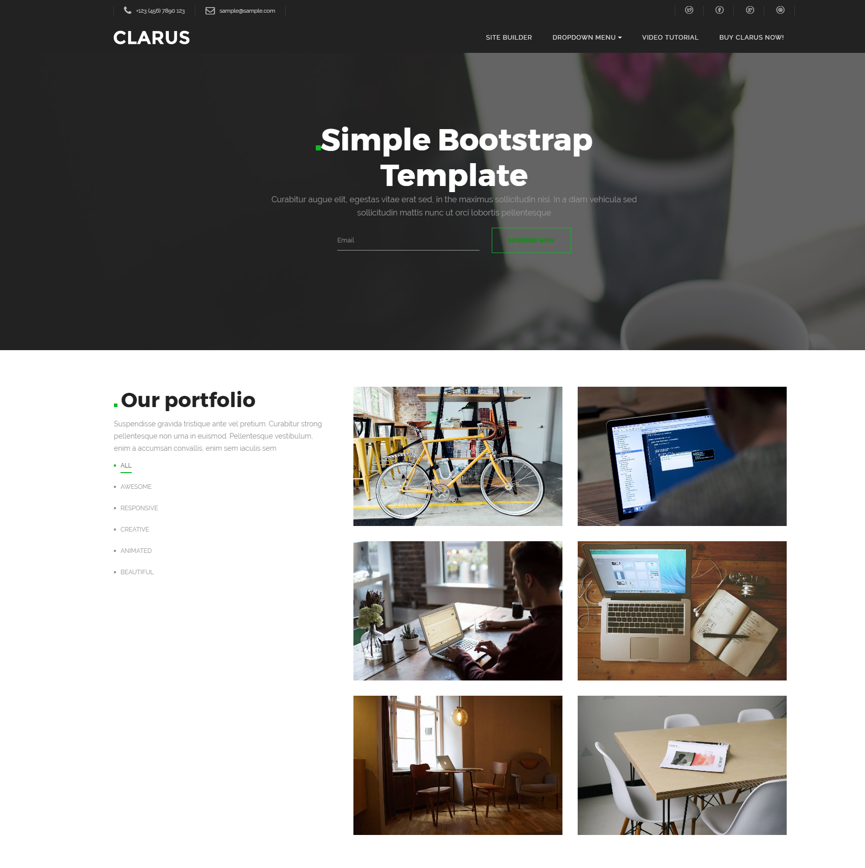 Responsive Bootstrap Simple Themes