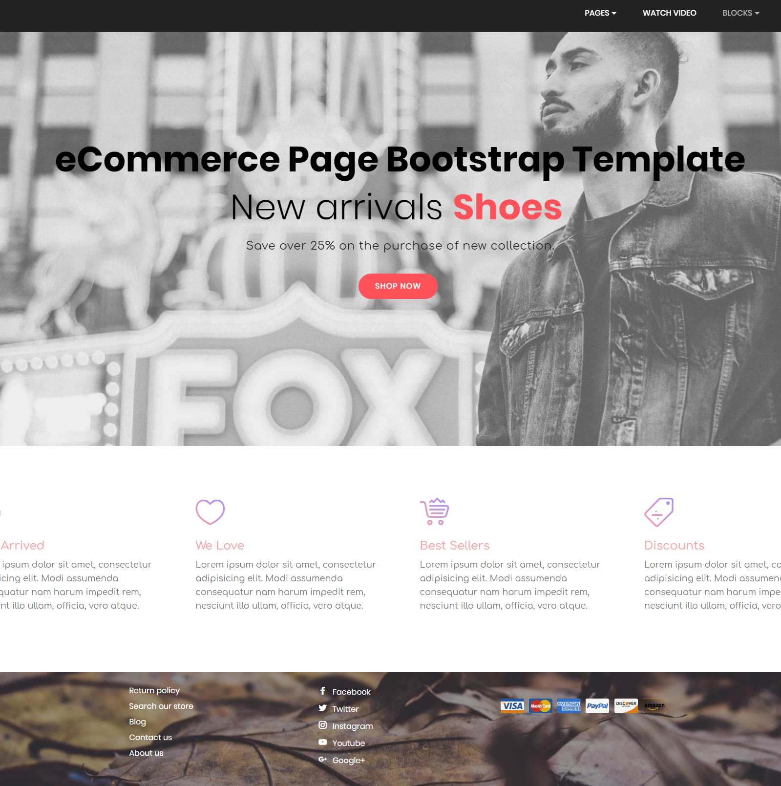 Responsive Bootstrap eCommerce Themes