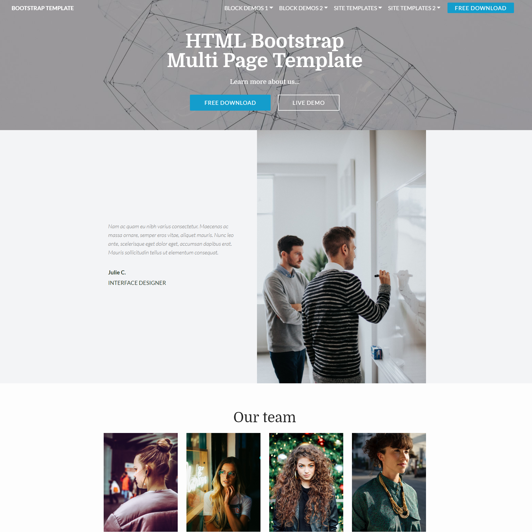 CSS3 Bootstrap Multi page Templates