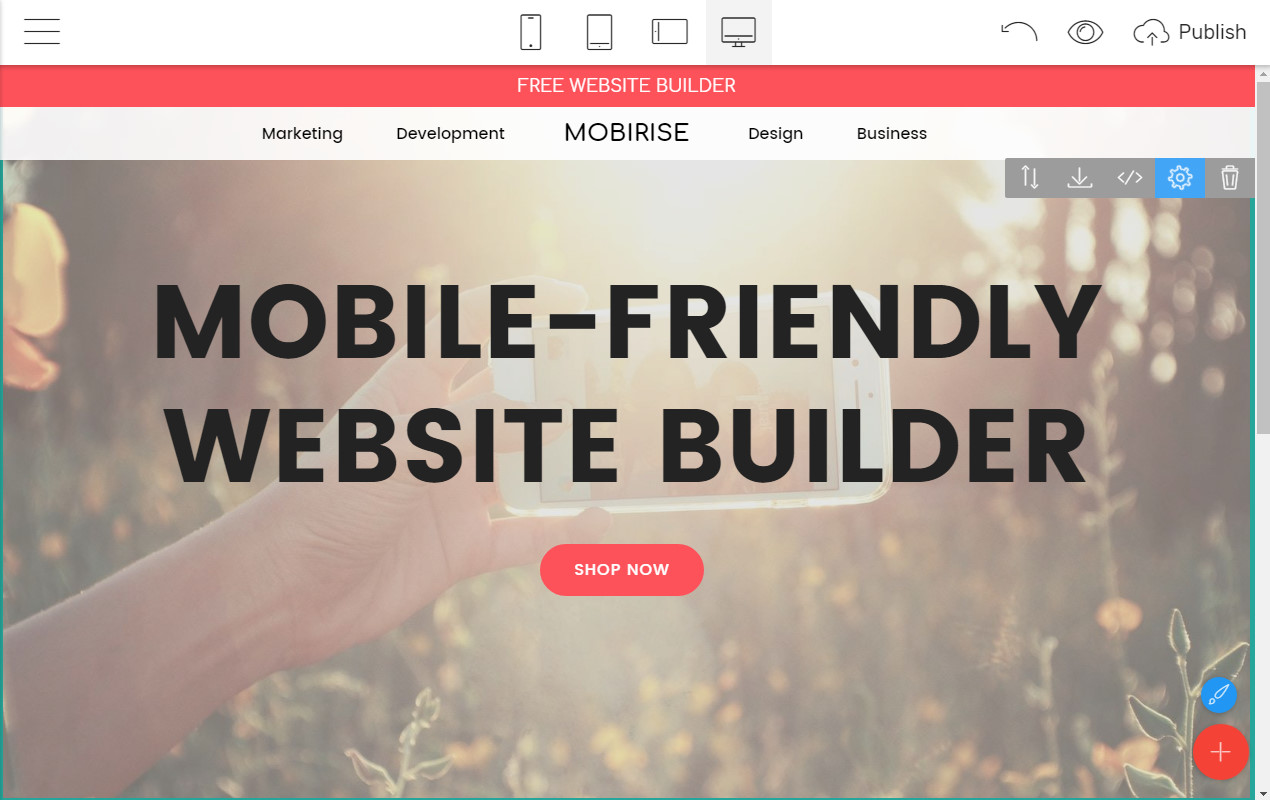 Mobile-friendly Site Builder