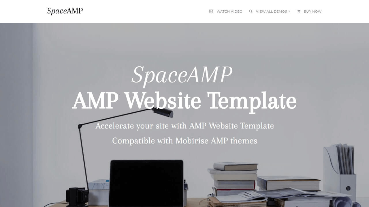 AMP Website Template - Space AMP
